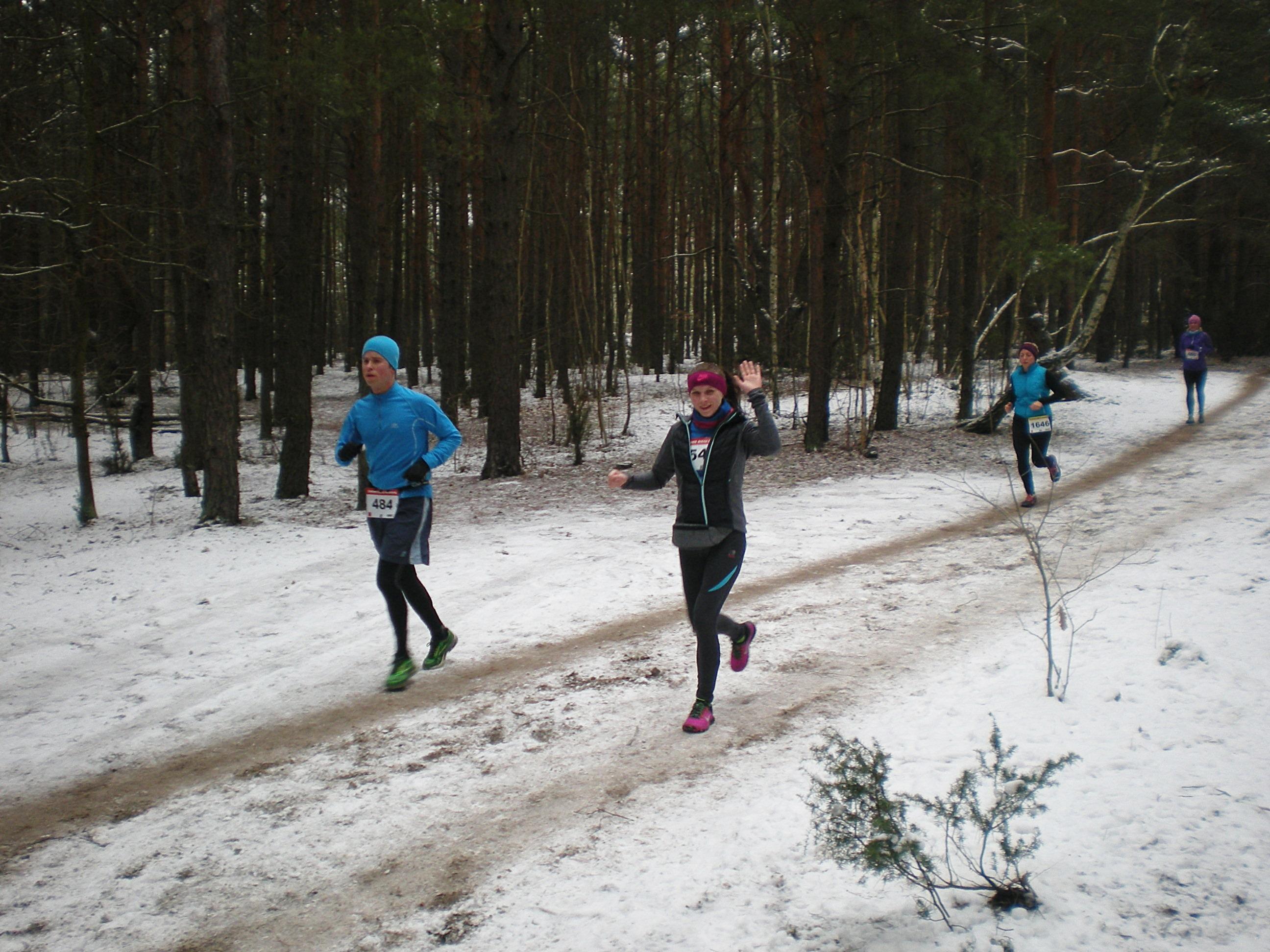 Zimowe Biegi Górskie w Falenicy, runda 4.