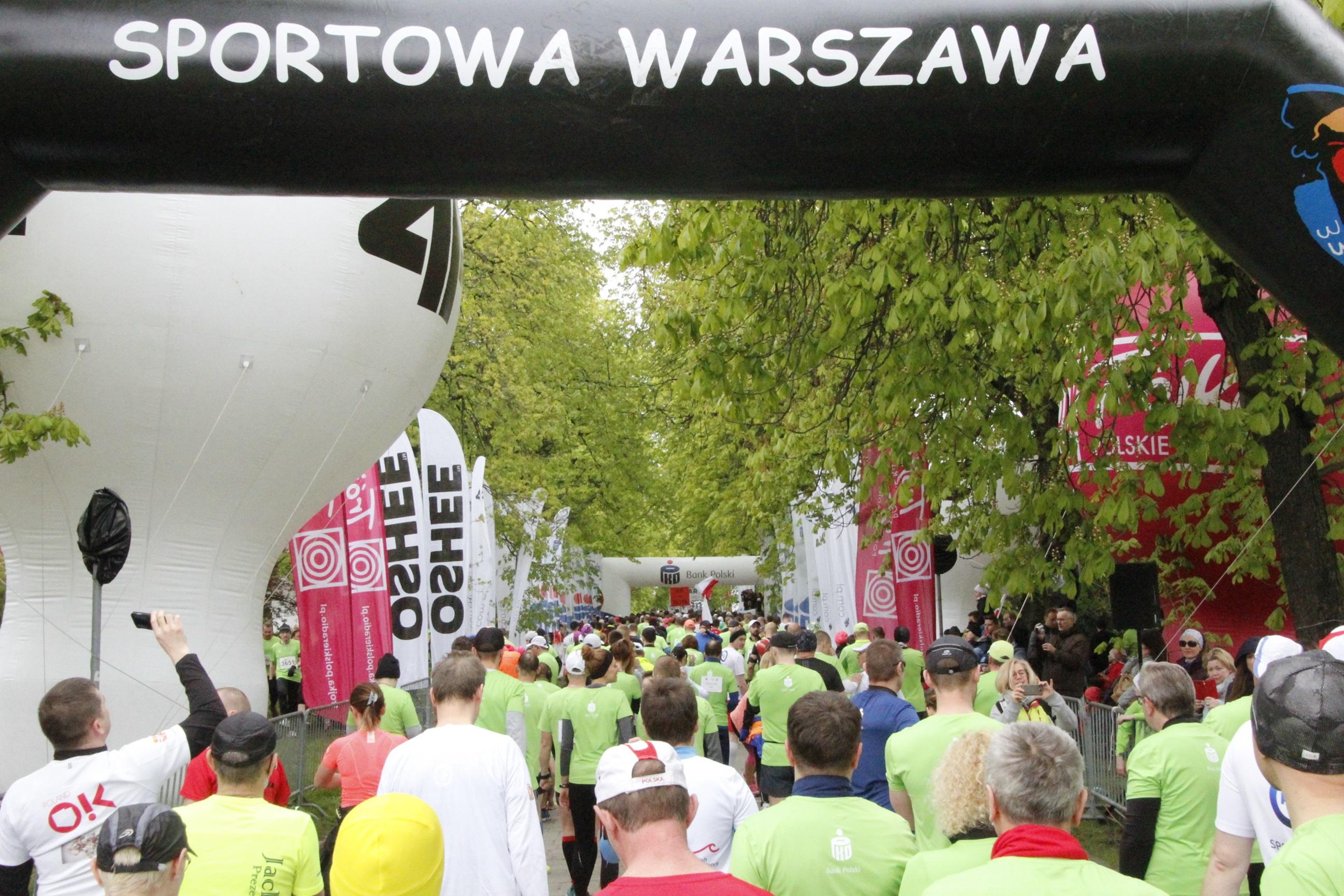 Patriotyczne bieganie w Warszawie.